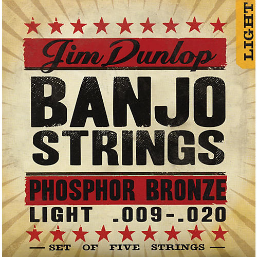 Dunlop 5-String Banjo Light Phosphor Bronze Strings