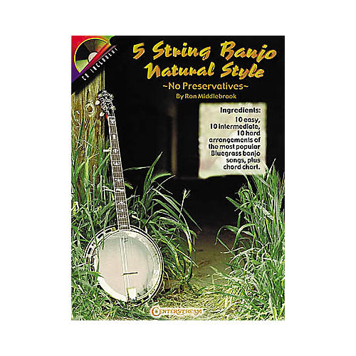 Centerstream Publishing 5 String Banjo Natural Style Book/CD