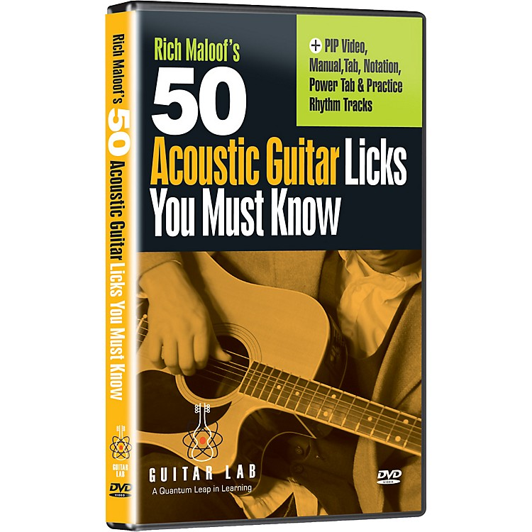 eMedia 50 Acoustic Guitar Licks You Must Know! (DVD)