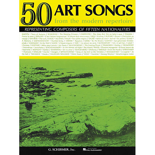 G. Schirmer 50 Art Songs From The Modern Repertoire Voice / Piano