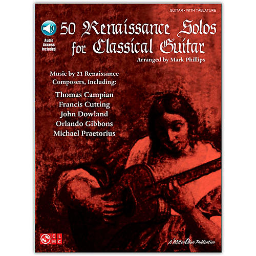 Cherry Lane 50 Renaissance Solos for Classical Guitar Tab Book with CD