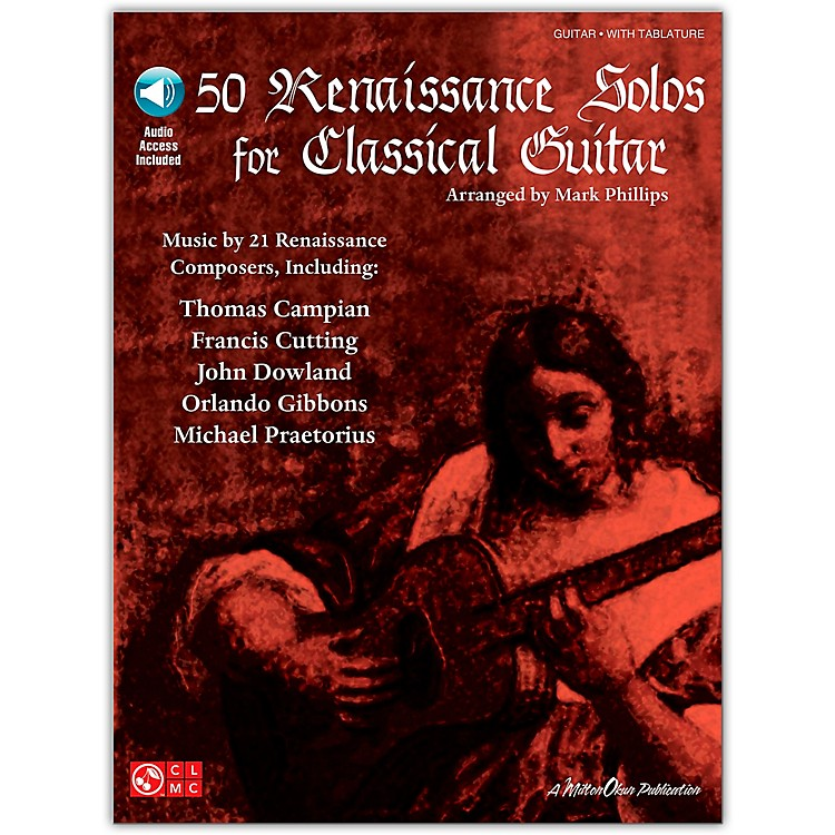 Cherry Lane50 Renaissance Solos for Classical Guitar Tab Book with CD