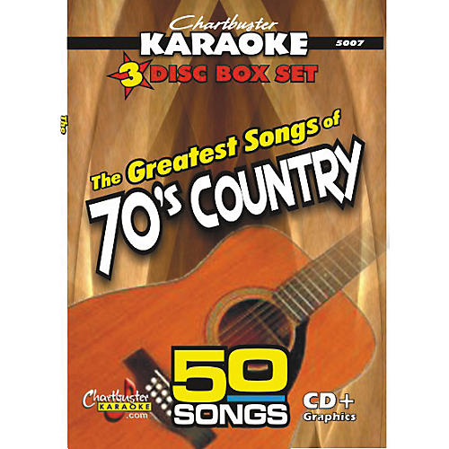 Chartbuster Karaoke 50 Song Pack: Greatest Songs of 70s Country Volume 1 CD+G