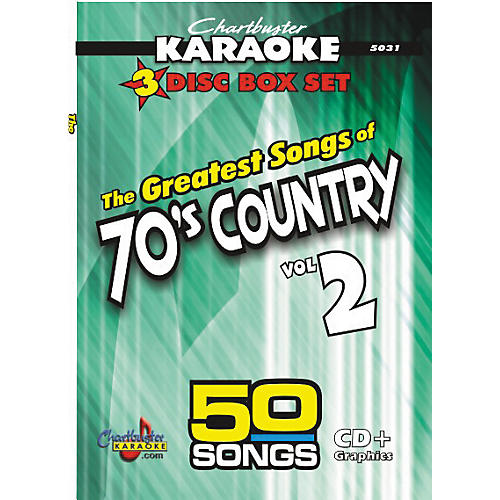 Chartbuster Karaoke 50 Song Pack: Greatest Songs of 70s Country Volume 2 CD+G