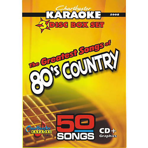 Chartbuster Karaoke 50 Song Pack: Greatest Songs of '80s Country Volume 1 CD+G