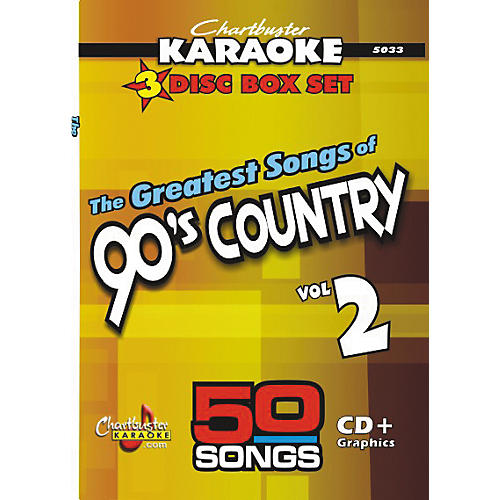 Chartbuster Karaoke 50 Song Pack: Greatest Songs of 90s Country Volume 2 CD+G-thumbnail