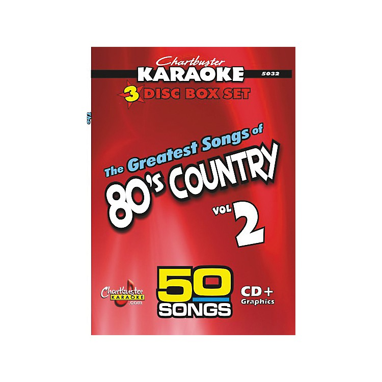 Chartbuster Karaoke 50 Song Pack: Greatest Songs of the '80s Country Volume 2 CD+G