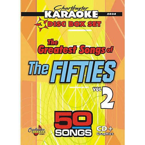 Chartbuster Karaoke 50 Song Pack Greatest Songs of the Fifties Volume 2