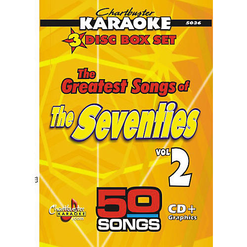 Chartbuster Karaoke 50 Song Pack Greatest Songs of the Seventies Volume 2