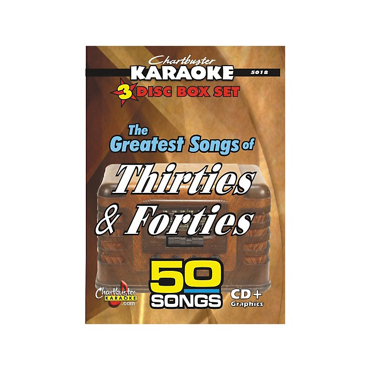 Chartbuster Karaoke 50 Song Pack Greatest Songs of the Thirties and forties Volume 1 (CD+G)