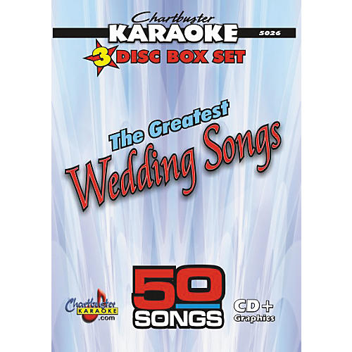 Chartbuster Karaoke 50 Song Pack Greatest Wedding Songs