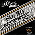 D'Angelico 500L 80/20 Brasswound Light Acoustic 12-String Guitar Strings thumbnail