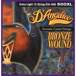 12 String Guitar Strings Extra Light : d 39 angelico 500xl bronze wound extra light 12 string acoustic guitar strings musician 39 s friend ~ Hamham.info Haus und Dekorationen
