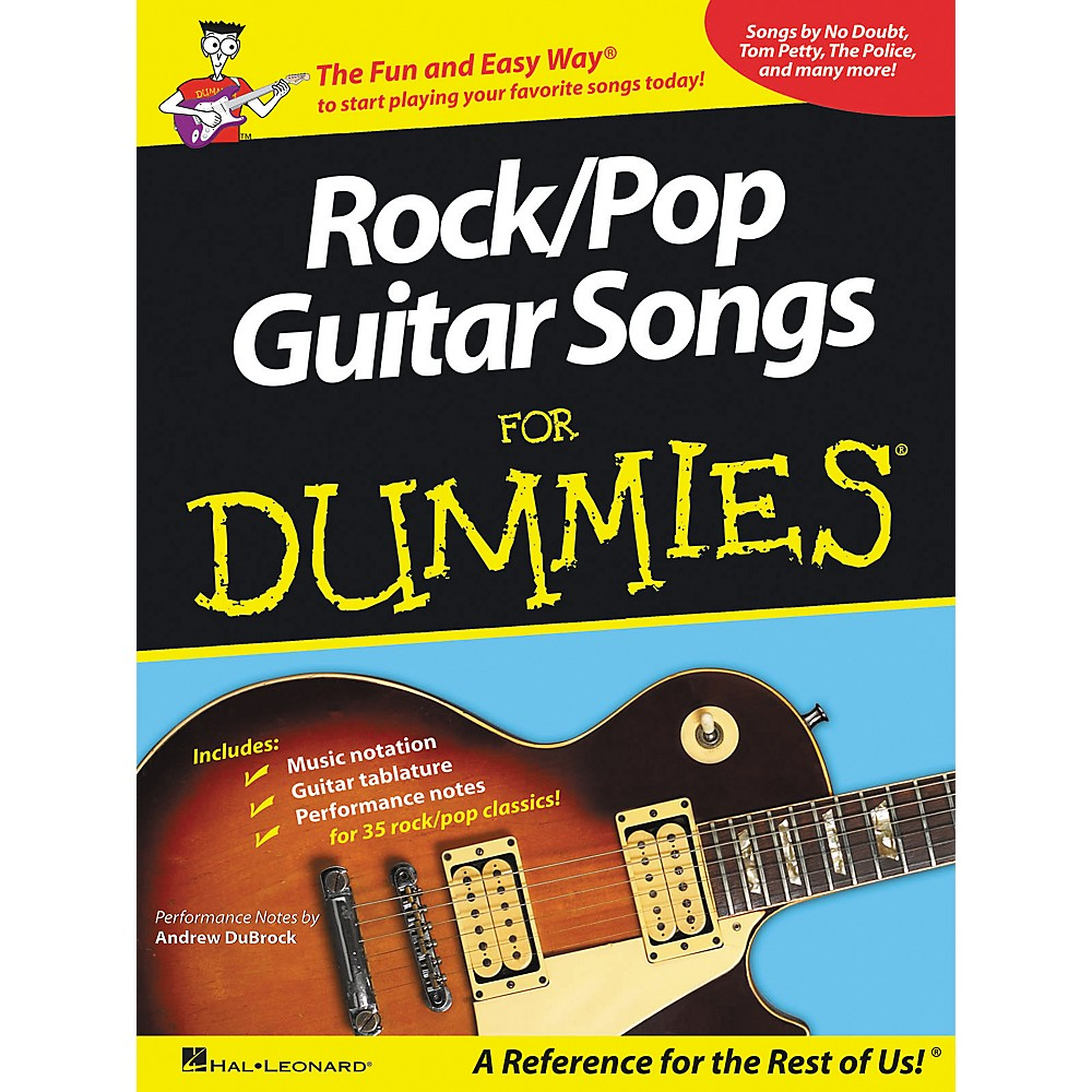 Hal Leonard ROCK/POP GUITAR SONGS FOR DUMMIES