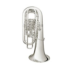 B&S 5099/2/W Series 5-Valve F Tuba 5099/2/W-S Silver Yellow Brass Bell