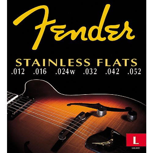 Fender 50L Stainless Flatwound Guitar Strings-thumbnail