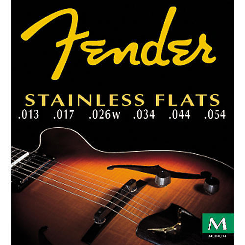 Fender 50M Stainless Flatwound Guitar Strings