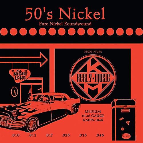 Kerly Music 50'S Nickel Pure Nickel Medium Electric Guitar Strings