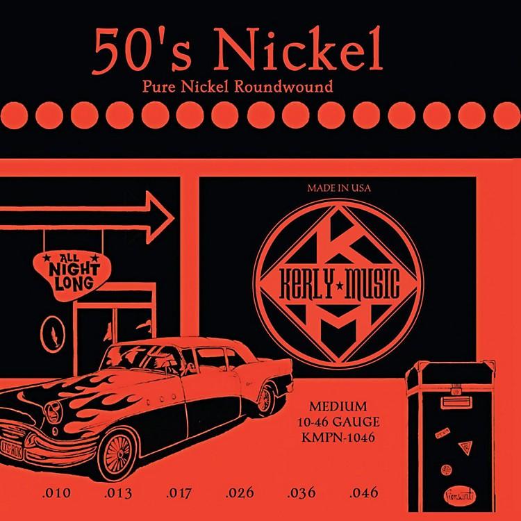Kerly Music50'S Nickel Pure Nickel Medium Electric Guitar Strings