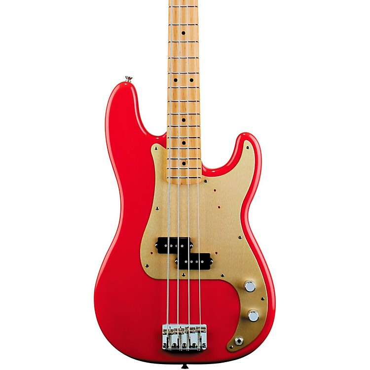 Fender '50s Precision Bass Fiesta Red Maple Fretboard