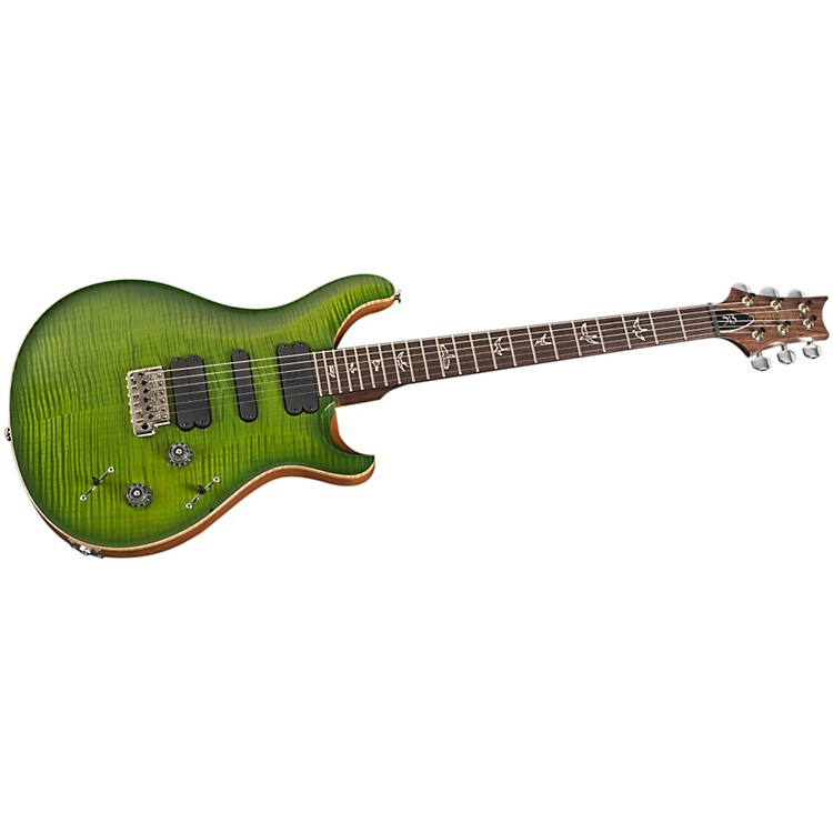 PRS513 Flame 10-Top with Rosewood Neck Electric GuitarErize Verde