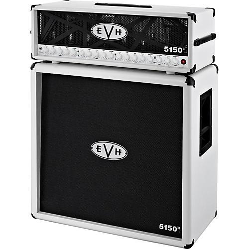 EVH 5150 III 100W Guitar Tube Head Ivory with 5150 III 412 Guitar Cab Ivory-thumbnail