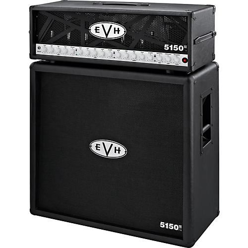 EVH 5150 III Head and 4x12 Half Stack Black