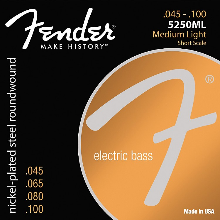 Fender5250ML Nickel-Plated Steel Short Scale Bass Strings - Medium Light