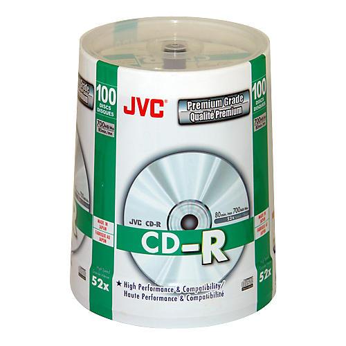 JVC 52X CD-R Premium-Grade Silver Lacquer 100-Disc Pack