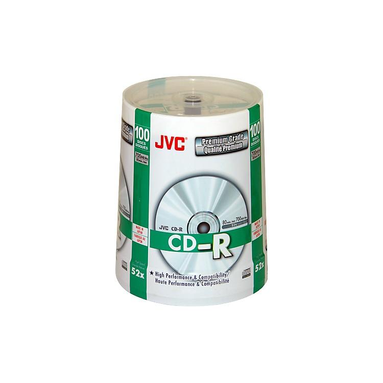 JVC52X CD-R Premium-Grade Silver Lacquer 100-Disc Pack