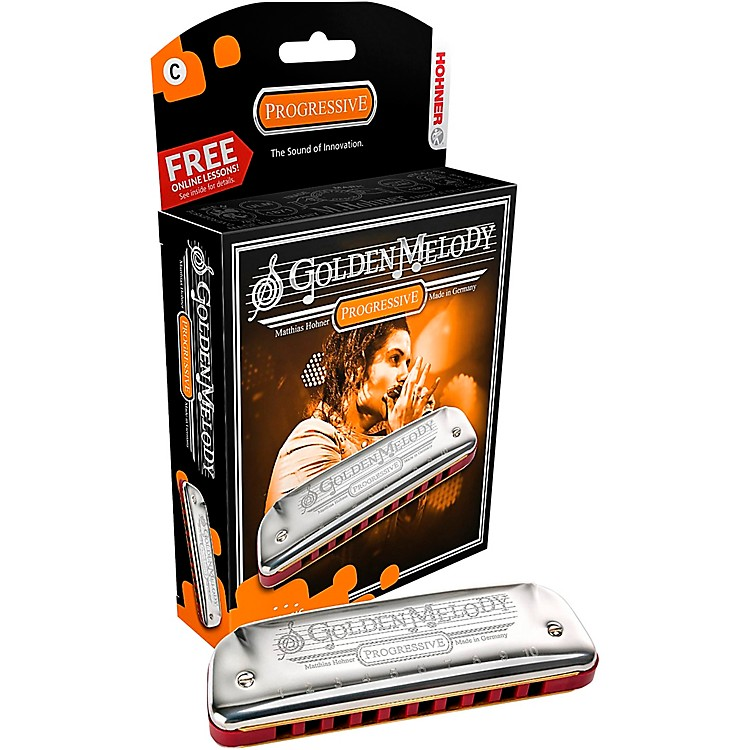Hohner 542 Golden Melody Harmonica Bb