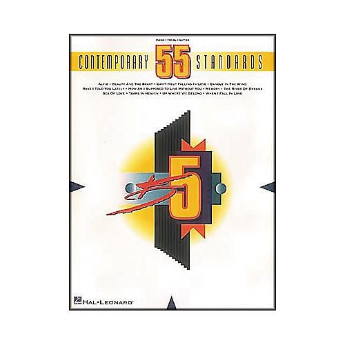 Hal Leonard 55 Contemporary Standards Piano, Vocal, Guitar Songbook-thumbnail