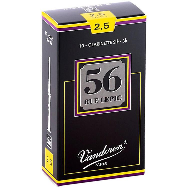Vandoren56 Rue Lepic Bb Clarinet ReedsStrength 2.5Box of 10