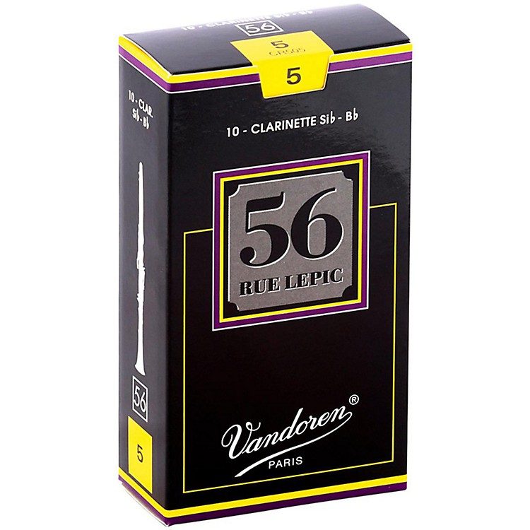 Vandoren56 Rue Lepic Bb Clarinet ReedsStrength 3.5+Box of 10