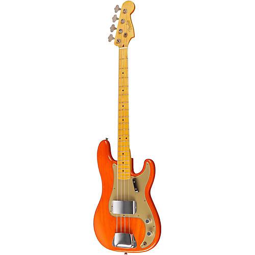 Fender Custom Shop '57 Precision Bass Relic Electric Bass Guitar Masterbuilt by Dale Wilson Transparent Gretsch Orange