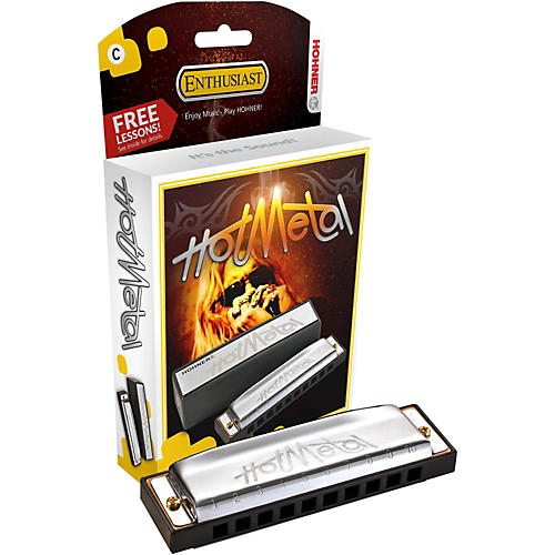 Hohner 572 Hot Metal Harmonica D