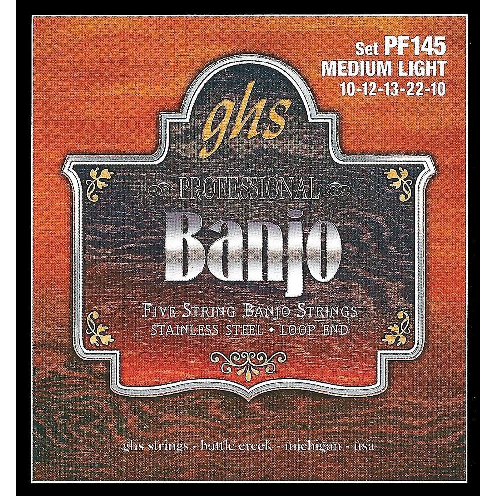 Ghs Stainless Steel 5-String Banjo Strings - Medium Light