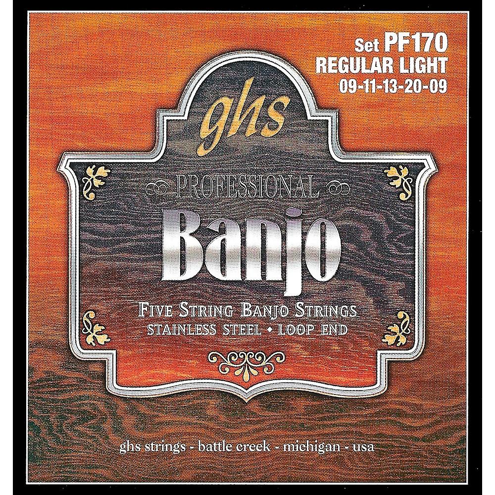 Ghs Stainless Steel 5-String Banjo Strings - Light
