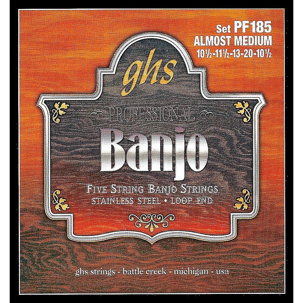 Ghs Stainless Steel 5-String Banjo Strings - Almost Medium