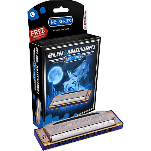 Hohner 595BL Blue Midnight Harmonica Key of D