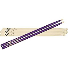 Vater 5B Hickory Wood-Tip Drumstick 3-Pack with Free Color Wrap Pair Purple Optic 5B
