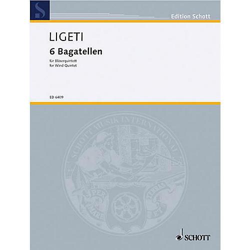 Schott 6 Bagatelles (Wind Quintet Score) Schott Series by György Ligeti-thumbnail