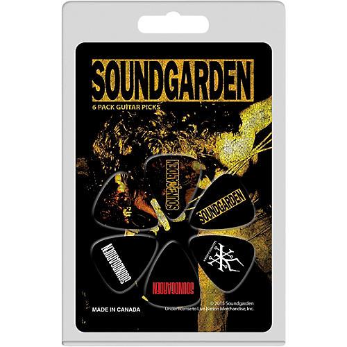 Perri's 6 Pack Of Medium Celluloid Picks With Soundgarden Logo-thumbnail