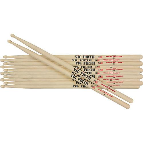 Vic Firth 6-Pair American Classic Hickory Drumsticks Nylon 5B