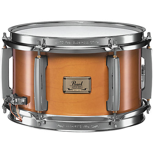 Pearl 6-Ply Maple Popcorn Snare Drum Natural 10X6 Inch