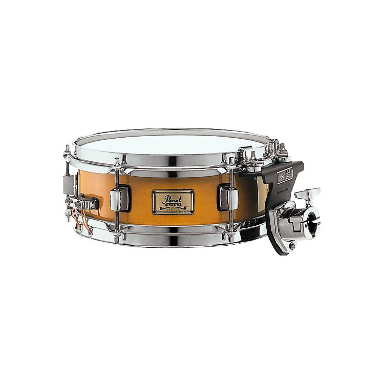 Pearl 6-Ply Maple Shell Snare Drum with ISS Mount Liquid Amber 4x10 Inches