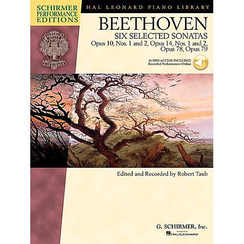 G. Schirmer 6 Selected Piano Sonatas Book/2CD's Op:10 No 1 & 2, Op:14 No 1 & 2, Op: 78, Op: 79 By Beethoven / Taub-thumbnail