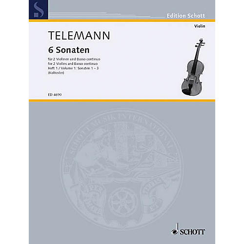 Schott 6 Sonatas - Vol. 1:1-3 Schott Series Composed by Georg Philipp Telemann-thumbnail