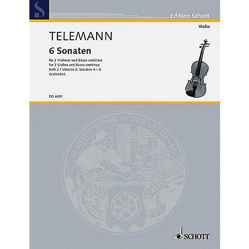 Schott 6 Sonatas - Vol. 2:4-6 Schott Series Composed by Georg Philipp Telemann