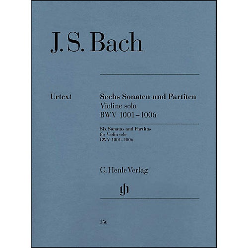 G. Henle Verlag 6 Sonatas And Partitas BWV 1001-1006 for Violin By Bach